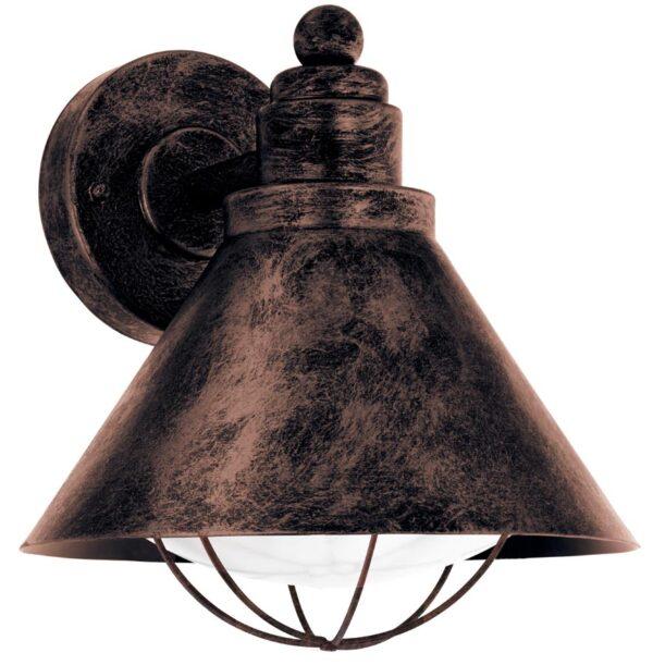 Barrosela Traditional Antique Copper Outdoor Wall Lantern IP44