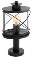 Hilburn Traditional Black Outdoor Oval Pedestal Lantern IP44