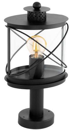 Hilburn Traditional Black Outdoor Oval Pedestal Lantern IP44