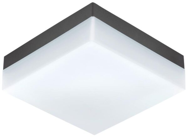 Sonella Square Anthracite Outdoor LED Bulkhead Or Porch Light