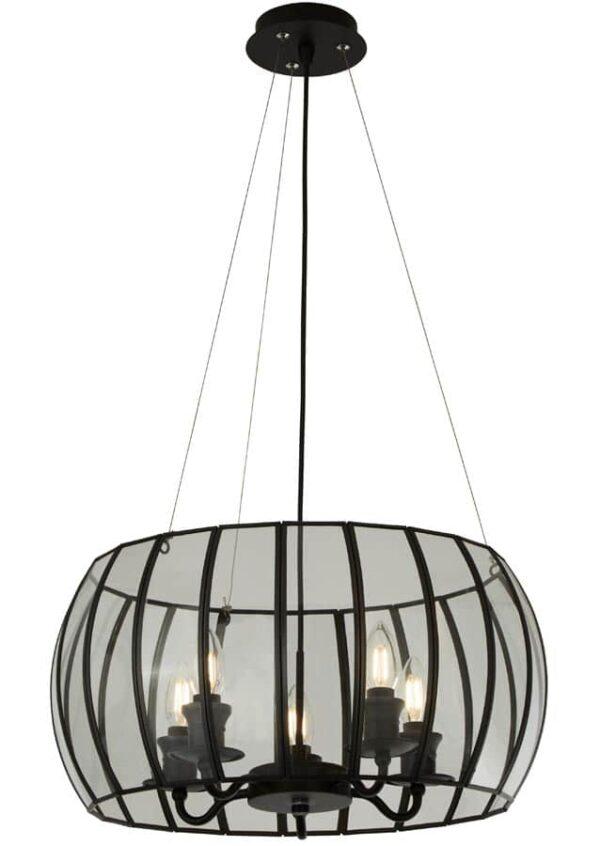 9515-5BK Ceiling pendant 5 light matt black