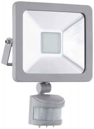 Faedo Silver 20w Cool White LED Outdoor PIR Floodlight