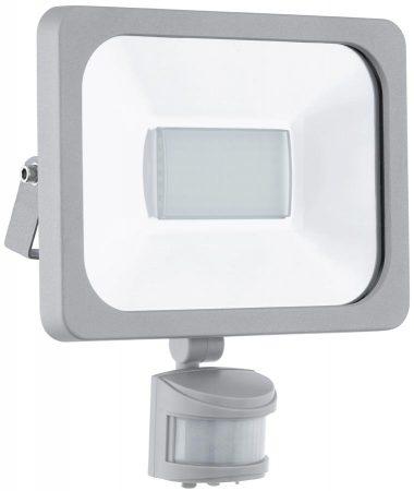 Faedo Silver 30w Cool White LED Outdoor PIR Floodlight