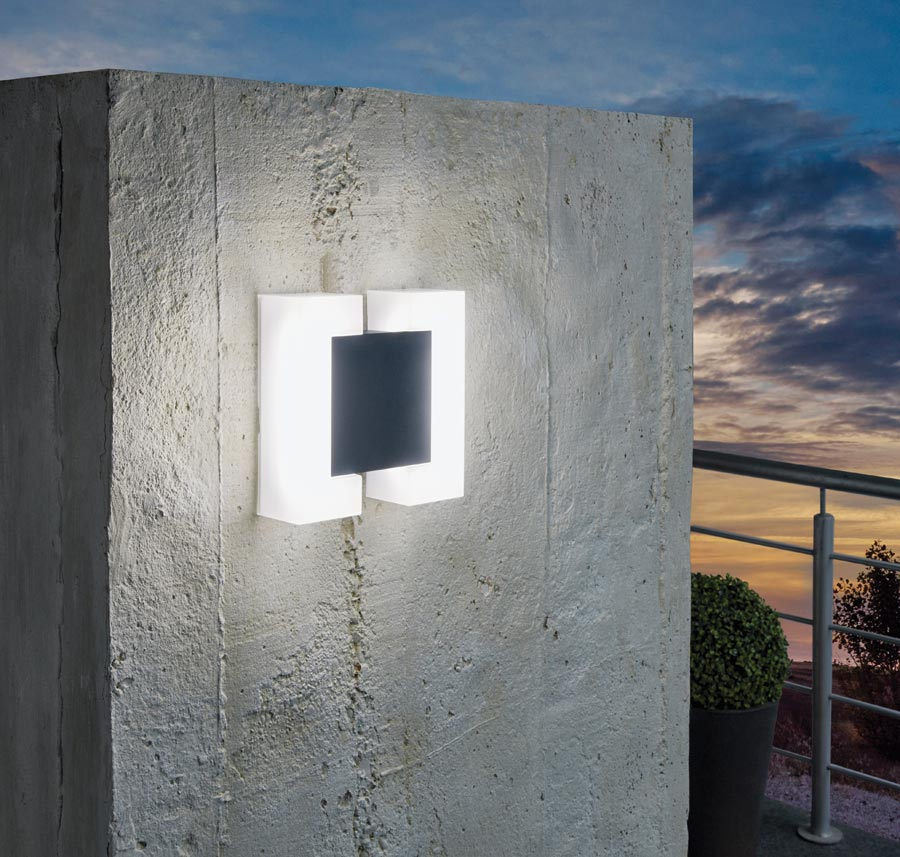 Sitia Contemporary Anthracite LED Outdoor Wall Light IP44