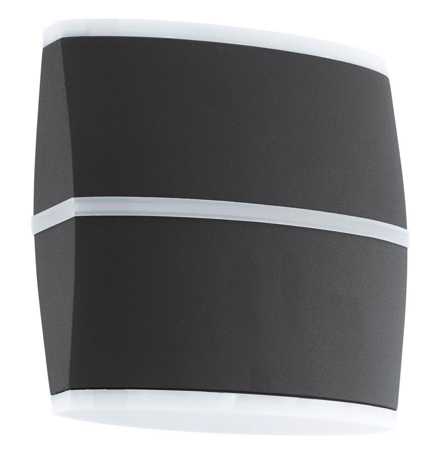 Perafita Modern Anthracite 12w LED Outdoor Wall Light IP44 Eglo 96007