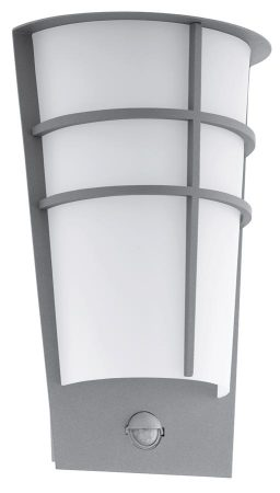 Breganzo Silver Art Deco Style LED Outdoor PIR Wall Light IP44