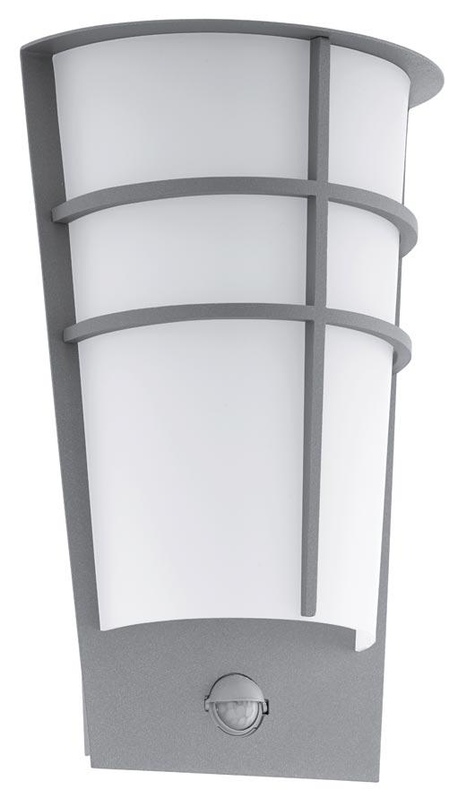 Breganzo silver art deco style led outdoor pir wall light for Art deco porch light