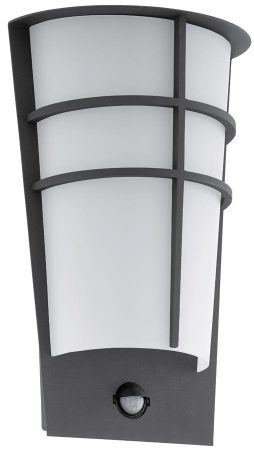 Breganzo Anthracite Art Deco Style LED Outdoor PIR Wall Light IP44
