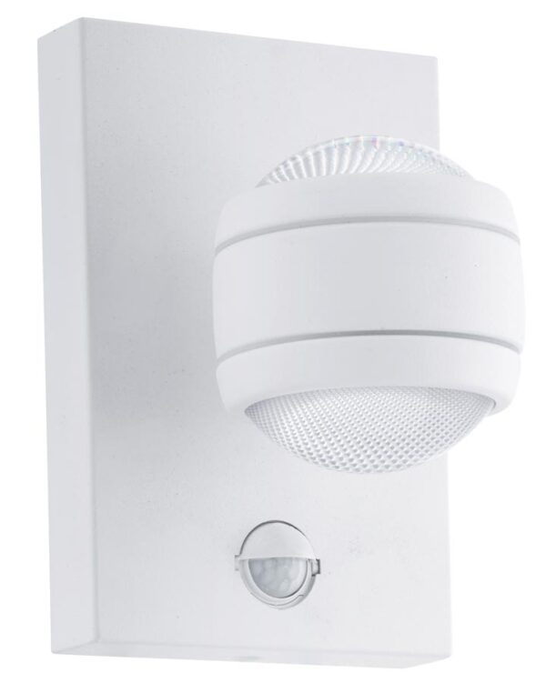 Sesimba Contemporary LED Outdoor PIR Wall Light White IP44