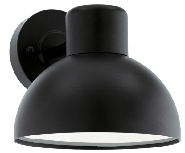 Entrimo Black Finish Outdoor Over Door Wall Light IP44