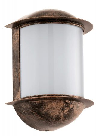 Isoba Antique Copper Finish Nautical Outdoor LED Wall Light IP44