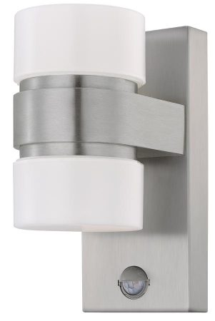 Atollari Modern 12w LED Outdoor Sensor Light Silver IP44
