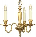 Asquith Victorian Style Solid Cast Brass 3 Light Chandelier