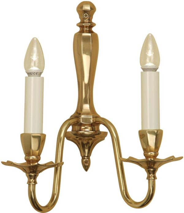 Asquith Victorian Style Solid Cast Brass Double Wall Light