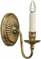 Fitzroy Georgian Style Solid Cast Brass Single Wall Light