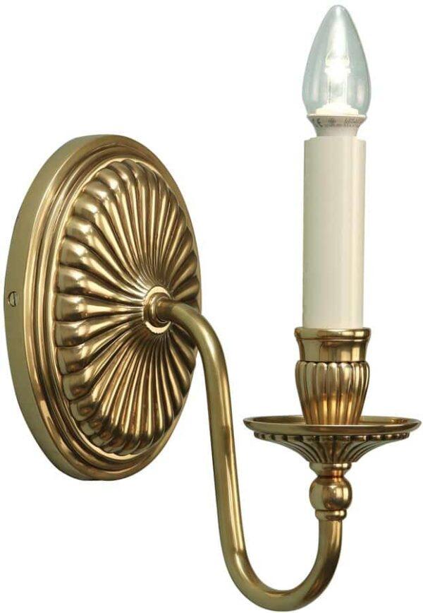 Fitzroy Georgian Style Solid Cast Brass Single Wall Light