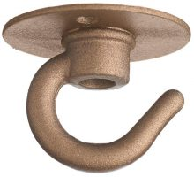Small Bronze Single Cable Hook For Pendant Lights