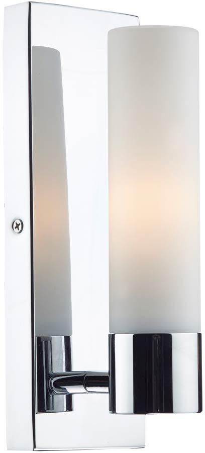 Dar Adagio Modern Single Bathroom Wall Light Chrome