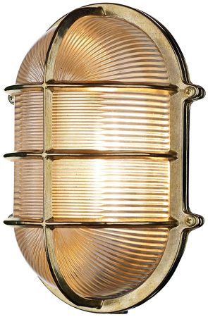 David Hunt Admiral Large Oval Solid Brass Outdoor Bulkhead