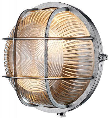 David Hunt Admiral Round Solid Brass Outdoor Bulkhead Light Nickel