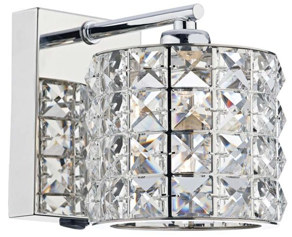 Dar Agneta Modern Switched Single Wall Light Chrome