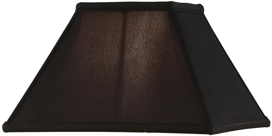 alice black faux silk 12 inch square tapered table lamp shade 63896. Black Bedroom Furniture Sets. Home Design Ideas