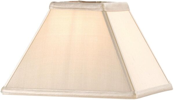 Alice Oyster Faux Silk 9 Inch Square Tapered Table Lamp Shade