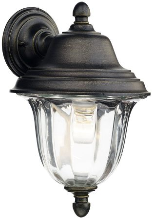Dar Aldate Traditional Outdoor Wall Light Black And Gold