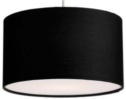 Dar Almeria 30cm Black Drum Pendant Lamp Shade