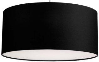 Dar Almeria 50cm Black Drum Pendant Lamp Shade
