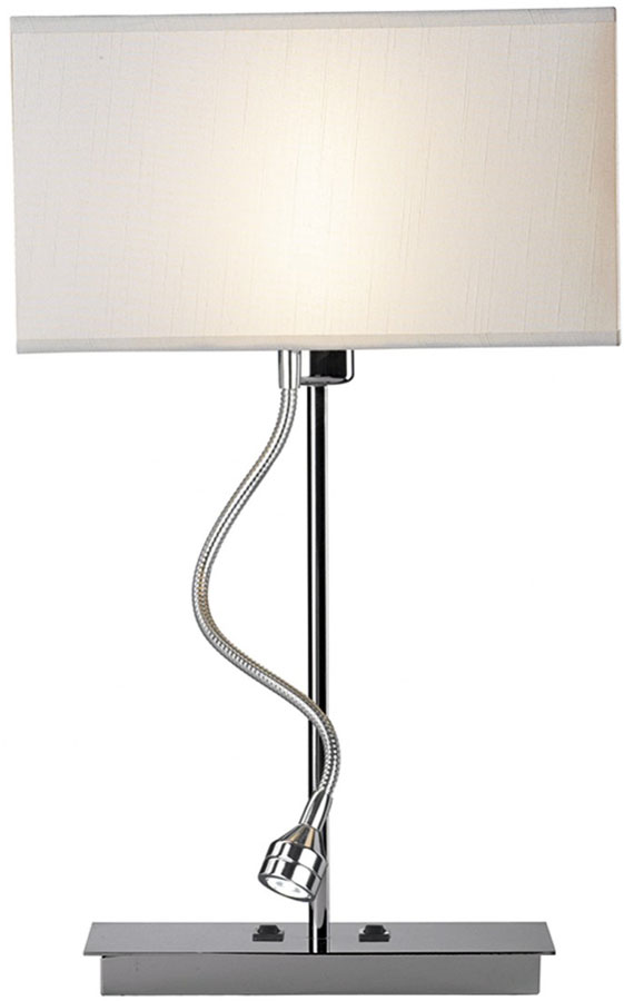 Dar Amalfi Chrome Table Lamp With LED Reading Light