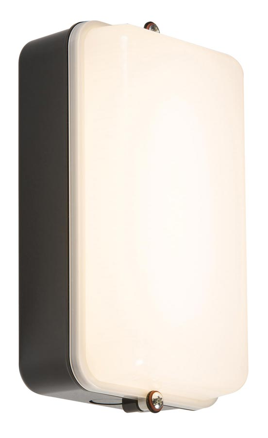 Rust proof 5w cool white LED bulkhead light black opal diffuser IP54