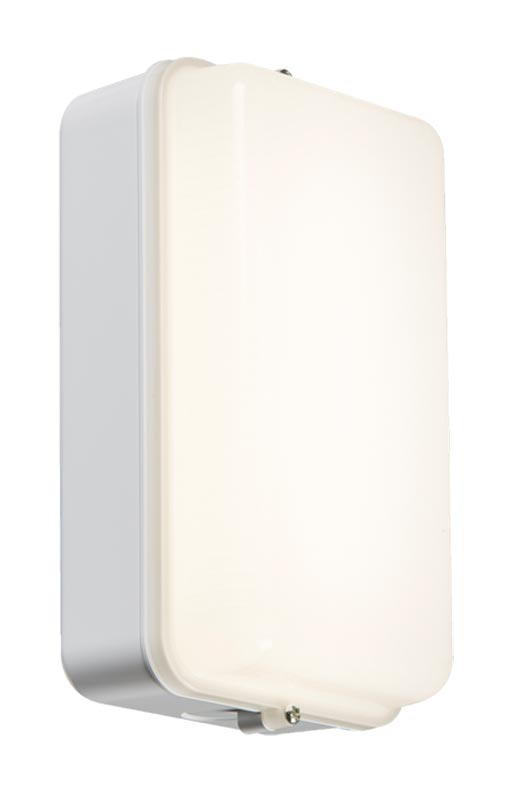 Rust proof 5w cool white LED bulkhead light white opal diffuser IP54