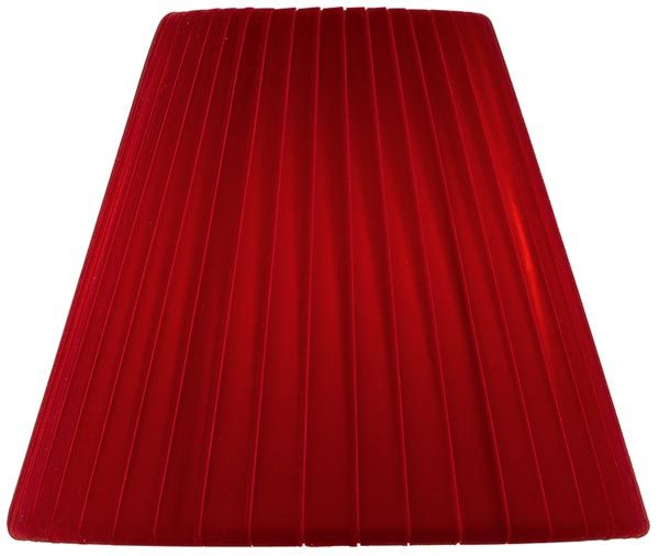Dar Amore 15cm Red Velvet Ribbon Chandelier Shade
