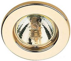 Ultra Slim Polished Brass GU10 Fixed Downlight