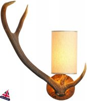 David Hunt Highland Rustic Antler Wall Light Left Hand UK Made