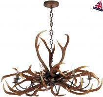 David Hunt Antler 8 Light Highland Rustic Chandelier UK Made
