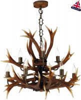 David Hunt Antler 9 Light Highland Rustic Chandelier UK Made