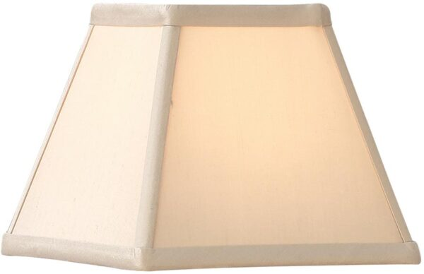 Alice Oyster Faux Silk 5 Inch Square Tapered Wall Lamp Shade