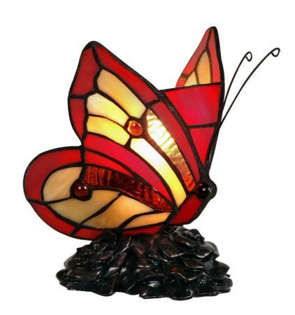Tiffany Glass Butterfly Table Lamp