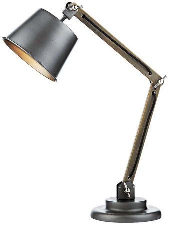 Dar Arken Modern Wooden Table Desk Lamp Silver
