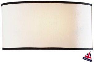 David Hunt Ascott Modern Wall Washer Light Cream Fabric Shade
