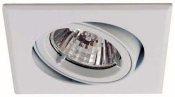 Twistlock Square White Finish Gimbal Downlight