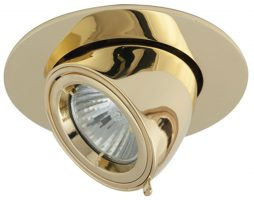 Twistlock Brass Adjustable Wall Washer Downlight