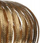 Dar Atticus Gold Leaf Foil Applique 5 Light Pendant
