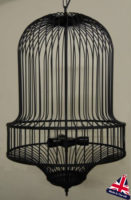 Coventry Wrought Iron Bird Cage 3 Light Chandelier UK Made