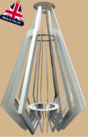 Very Large Architectural 16 Light Art Deco Chandelier