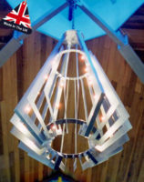 Enormous Architectural 24 Light Art Deco Chandelier