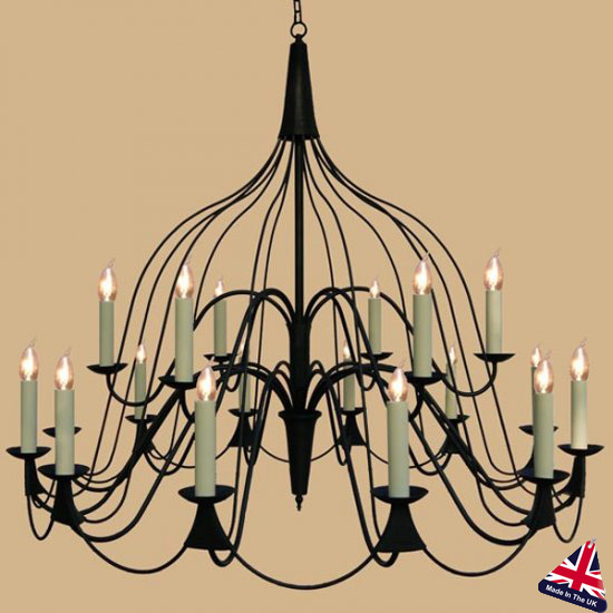 Chateau French Farmhouse Large 18 Light Chandelier UK Made