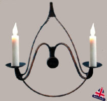 Chateau French Farmhouse 2 Lamp Wall Light UK Made